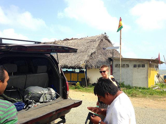 Arriving at San Blas